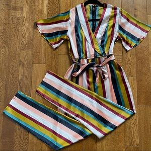 Striped colorful jumpsuit